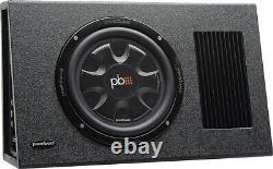 PowerBass PS-AWB101T Single 10 Thin Loaded Enclosure Powered