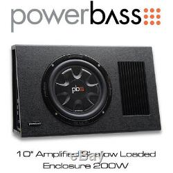 Powerbass PS-AWB101T 10 Amplified Shallow Loaded Subwoofer Enclosure 175W