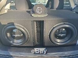 Pre-owned Skar Audio Evl-2x12d4 Dual 12 5000w Vented Loaded Sub Box Enclosure