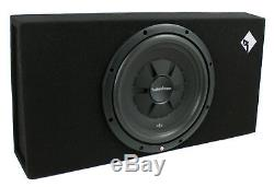 Rockford Fosgate-1X12 12 500W Shallow Loaded Subwoofer Sub Enclosure (2 Pack)