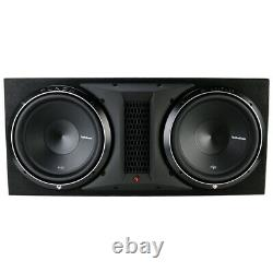 Rockford Fosgate P2-2X12 Dual 12 1600W Subwoofer Loaded Vented Enclosure NEW