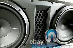Rockford Fosgate P2-2x12 12 1600w Dual Loaded Subwoofers Bass Speakers Box New