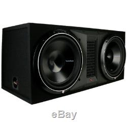 Rockford Fosgate P3-2X12 Dual 12 2400W Subwoofer Loaded Vented Enclosure NEW