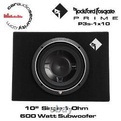 Rockford Fosgate P3S-1X10 Single P3 10 Shallow Loaded Enclosure 600 Watts