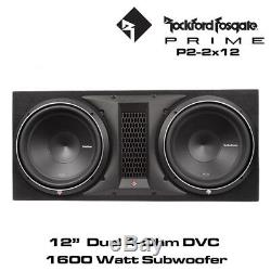 Rockford Fosgate Punch Series P2-2X12 Dual P2 12 Loaded Enclosure 1600 Watts