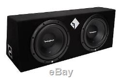 Rockford Fosgate R1-2X10 10 800 Watts Dual Loaded Subwoofer Sub Enclosure(Used)