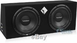 Rockford Fosgate R1-2X10 10 800W Loaded Subwoofer Enclosure+Amplifier+Amp Kit
