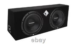 Rockford Fosgate R1-2X10 10 800W Loaded Subwoofer Sub Enclosure+Amp+Amp Kit