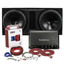Rockford Fosgate R1200-1D Amp + P32X12 Dual 12 Punch P3 Series Loaded Subwoofer