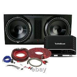 Rockford Fosgate R2-1200X1 + P32X12 Dual 12 Punch P3 Series Loaded Subwoofer