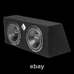 Rockford Fosgate R2-2X10 Loaded Sub Box Enclosure+ 3000Watts Car Amp & Amp Kit