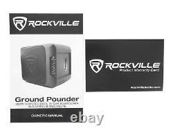 Rockville Ground Pounder 800 Watt Powered Dual 10 Loaded Car Subwoofer+Amp Kit