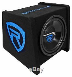 Rockville RV10.1C 500w 10 Loaded Car Subwoofer Enclosure+Mono Amplifier+Amp Kit
