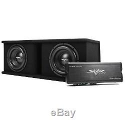Skar Audio Dual 10 2400 Watt Complete Sdr Series Loaded Sub Box And Amplifier