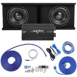 Skar Audio Dual 10 2400w Sdr Complete Bass Pkg Loaded Sub Box Amp Wire Kit