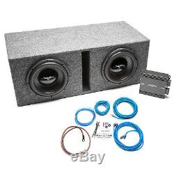 Skar Audio Dual 10 800 Watt Complete Subwoofer Loaded Vented Box And Amplifier