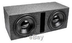 Skar Audio Dual 12 1000W Dual 2 Ohm Loaded Vented Subwoofer Enclosure Ix12D2