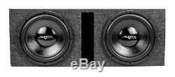 Skar Audio Dual 12 Complete Loaded Subwoofer Bass Package with Amplifier