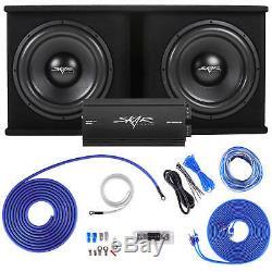 Skar Audio Dual 15 2400 Watt Complete Sdr Series Loaded Sub Box And Amplifier