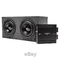 Skar Audio Dual 6.5 800 Watt Evl Sealed Loaded Sub Box W Amplifier Charcoal