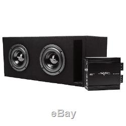 Skar Audio Dual 6.5 800 Watt Evl Vented Loaded Sub Box W Amplifier Black