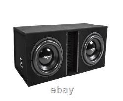 Skar Audio Sdr-2x12d4 Dual 12 2400 Watt Loaded Ported Subwoofer Enclosure