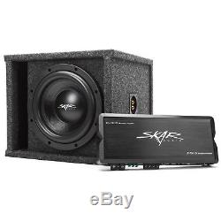 Skar Audio Single 10 1200w Complete Subwoofer Loaded Vented Box With Amplifier