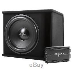 Skar Audio Single 18 1200 Watt Complete Sdr Series Loaded Sub Box And Amplifier