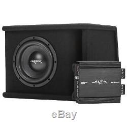 Skar Audio Single 8 700w Sdr Series Bass Package W Loaded Box Amp Wire Kit