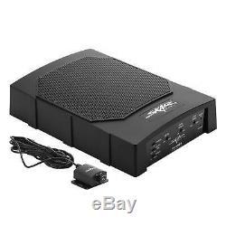 Skar Audio Sk-sw8a 8 150w Active Loaded Sub Enclosure + 8 Gauge Ofc Amp Kit