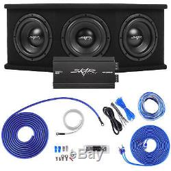Skar Audio Triple 8 2100w Sdr Complete Bass Pkg Loaded Sub Box Amp Wire Kit