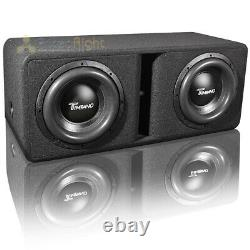 Timpano Dual 12 Loaded Subwoofer Enclosure Two TPT-T2500-12 D4 Subs Vented Box