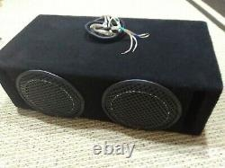 Two Rockford Fosgate Punch P1 dual 8 inch loaded Subwoofer box read