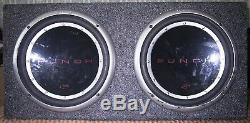 USA made! 2-Rockford Fosgate P112S8 loaded in a sealed subwoofer speaker cab