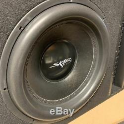 Used Skar Audio Evl-1x18d2 Single 18 2500w Vented Loaded Sub Box Enclosure