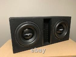 Used Skar Audio Evl-2x12d4 Dual 12 5000w Loaded Ported Subwoofer Enclosure