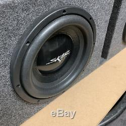 Used Skar Audio Ix10d4-2x10vented Dual 10 Vented D4 Loaded Sub Box Enclosure