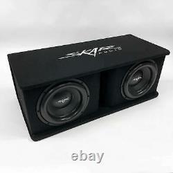 Used Skar Audio Sdr-2x12d4 Dual 12 2400 Watt Loaded Ported Subwoofer Enclosure