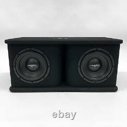 Used Skar Audio Sdr-2x8d4 Dual 8 1,400 Watt Loaded Ported Subwoofer Enclosure